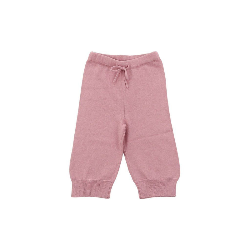 Organic Cotton/cashmere Pink Cozy Pants. Kids - Girls - Apparel