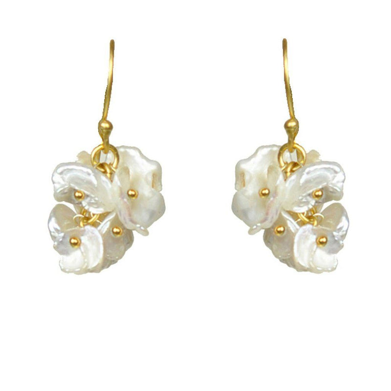 Short Keshi Pearl Cluster Earrings Women - Jewelry -