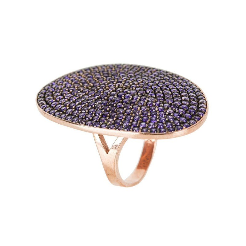 St Tropez Ring Rosegold Amethyst Zircon Women - Jewelry - Rings