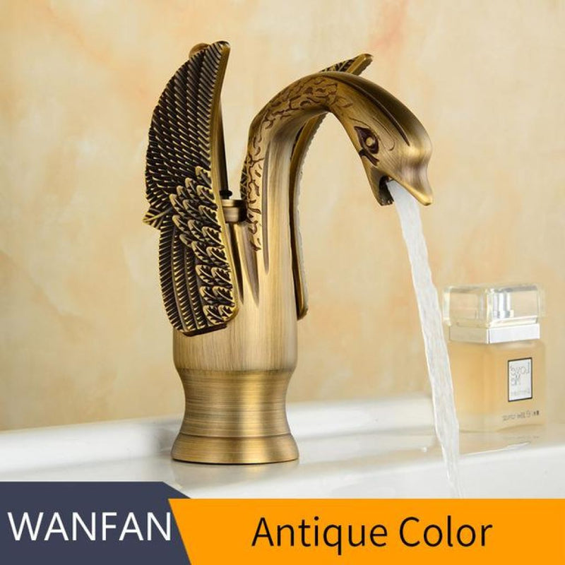 Swan Faucets In Luxury Copper Gold Plated Materials. Antique / China