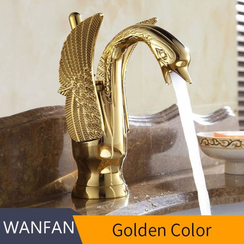 Swan Faucets In Luxury Copper Gold Plated Materials. Golden / China