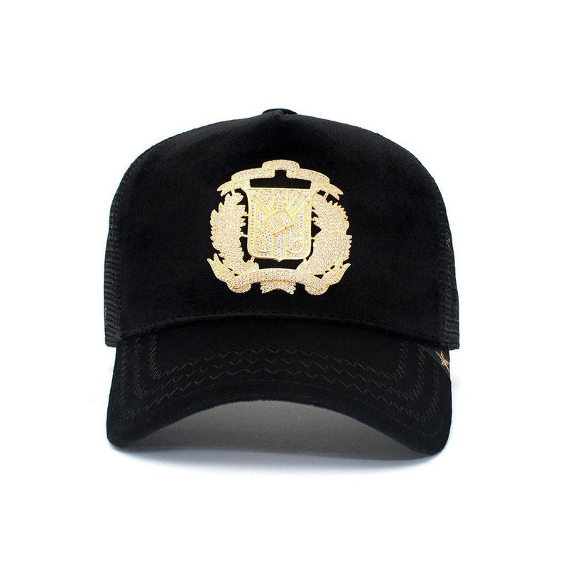 Trucker Hat - Dr Shield Rhinestone Velvet Men - Accessories - Hats