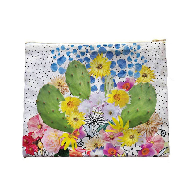Womens Cactus Clutch In Organic Cotton Canvas. Women - Bags - Clutches & Evening