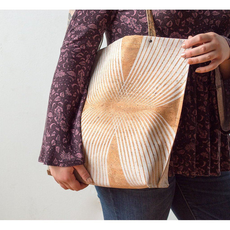 Womens Hand-Made Vegan Cork Essential Tote. Women - Bags - Totes