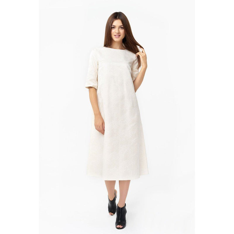 Womens Silk Jacquard Dress Women - Apparel - Dresses - Day To Night