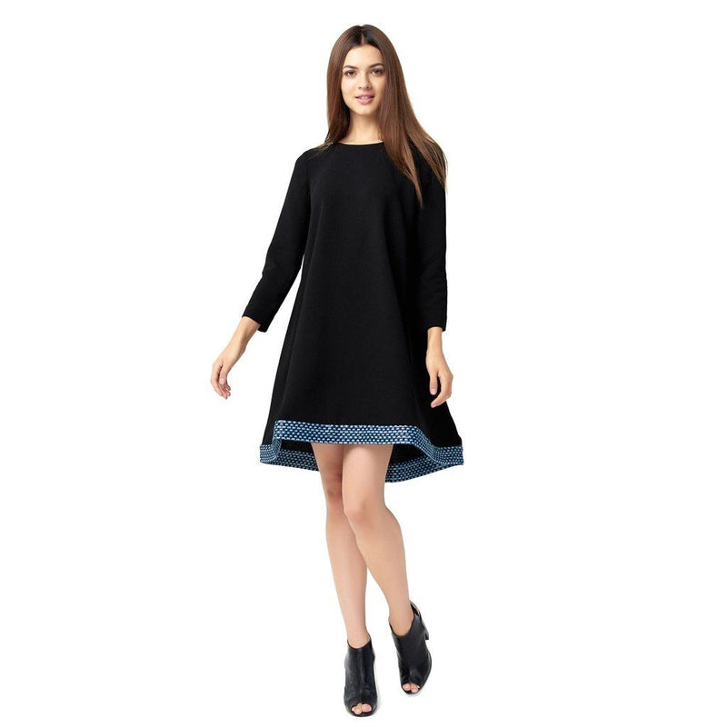 Womens Stylish Silk Jacquard Wool Blend Dress Women - Apparel - Dresses - Cocktail