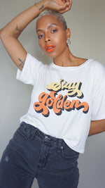 Stay Golden Crop Tee