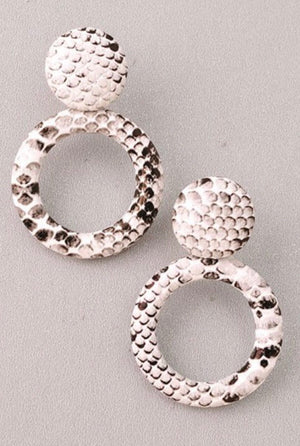 White Python Hoops