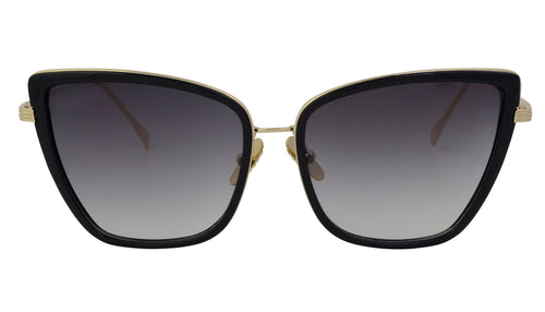 Gina - Sophisticated Cat Eye Silhouette Sunglasses