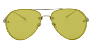 Stephanie - Rimless Ultra Slim Aviator Sunglasses