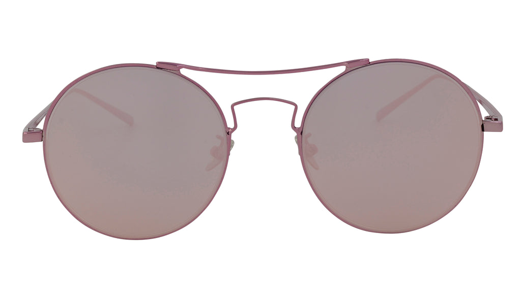 Erin - Classic Metal Round Rose Gold Sunglasses