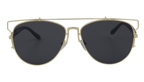 Cleo - Classic Cat Eye Round Sunglasses