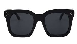 Gigi - Super Square Oversized Black Sunglasses