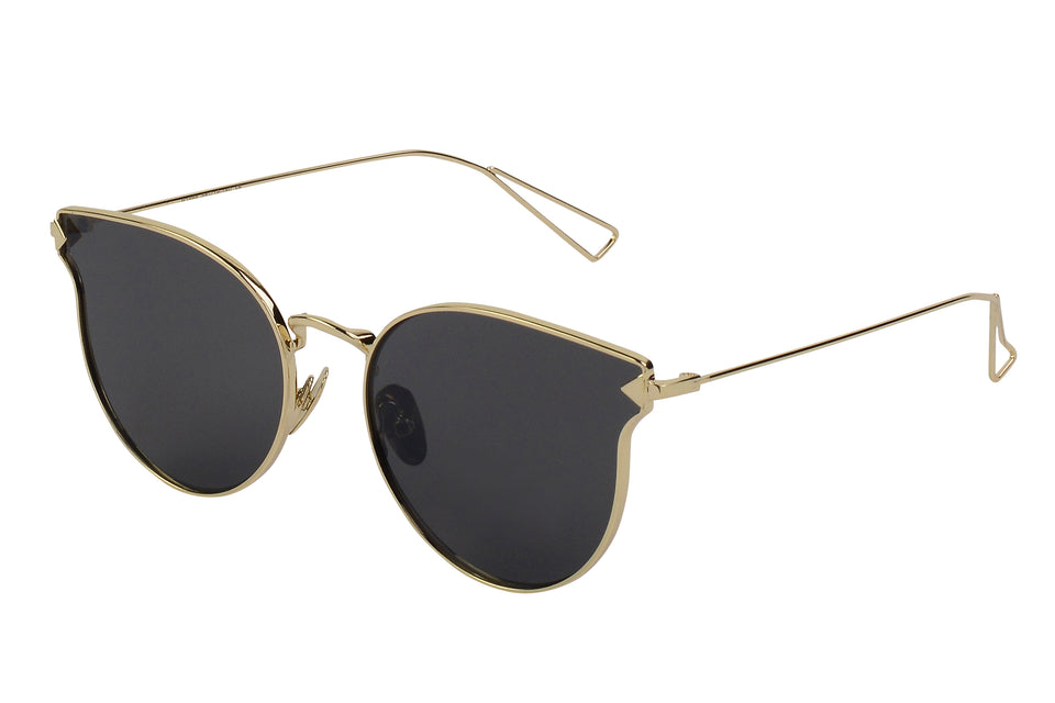 Emma - Chic Cat Eye Metal Sunglasses