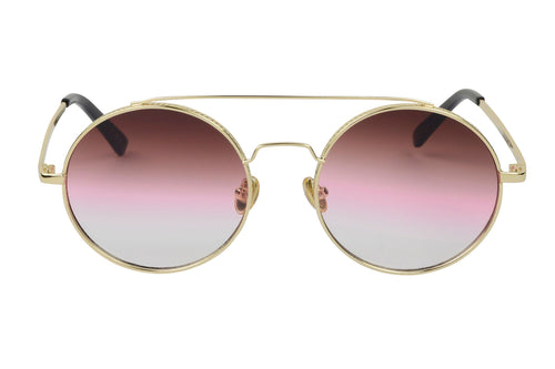 Vera - Premium Round Metal Colored Lens Sunglasses