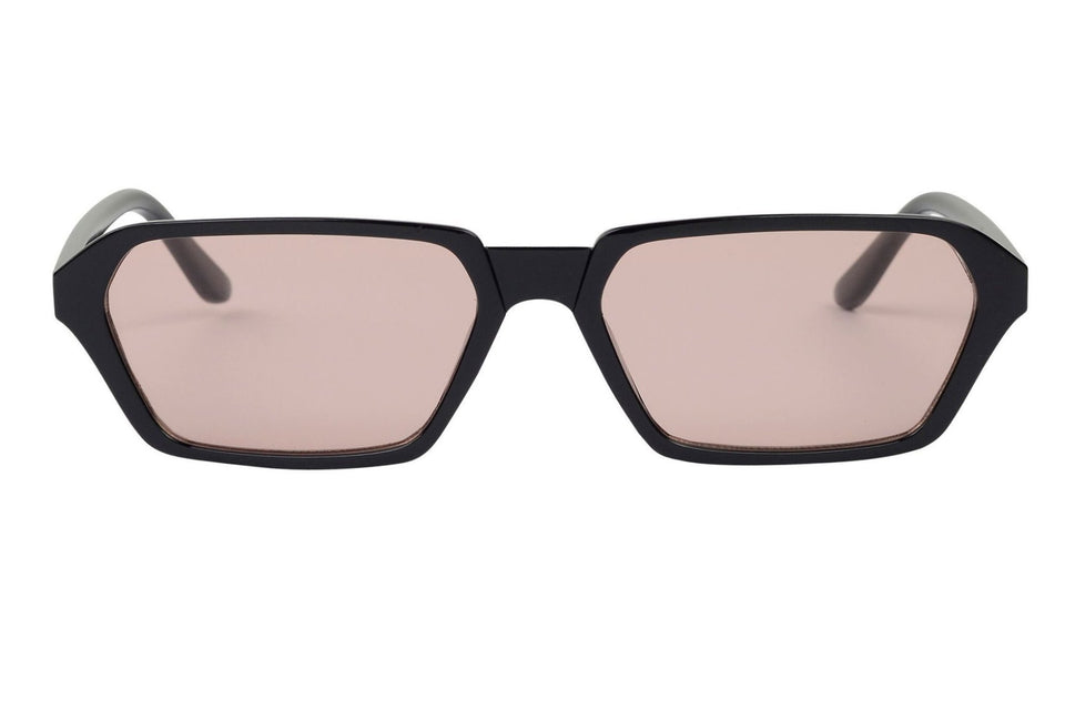 Zoey - Retro Modern Rectangle Flat Lens Sunglasses