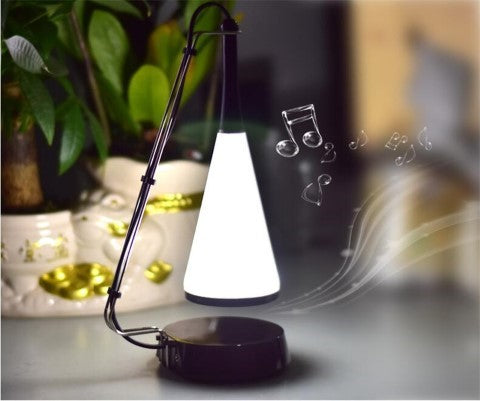 bluetooth 2 in 1 touch sensor led speaker lamp bedroom for music and