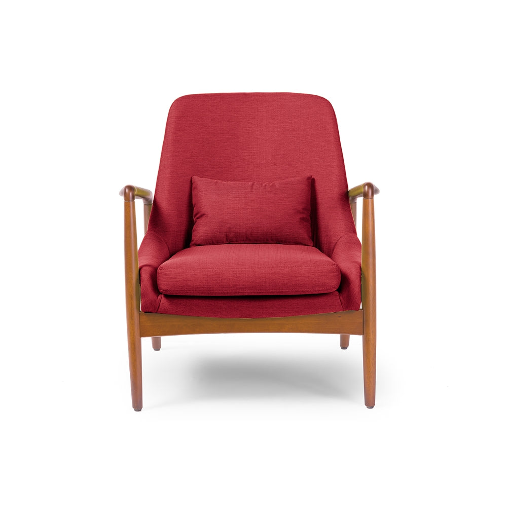Baxton Studio Carter Mid Century Modern Retro Upholstered Accent Chair