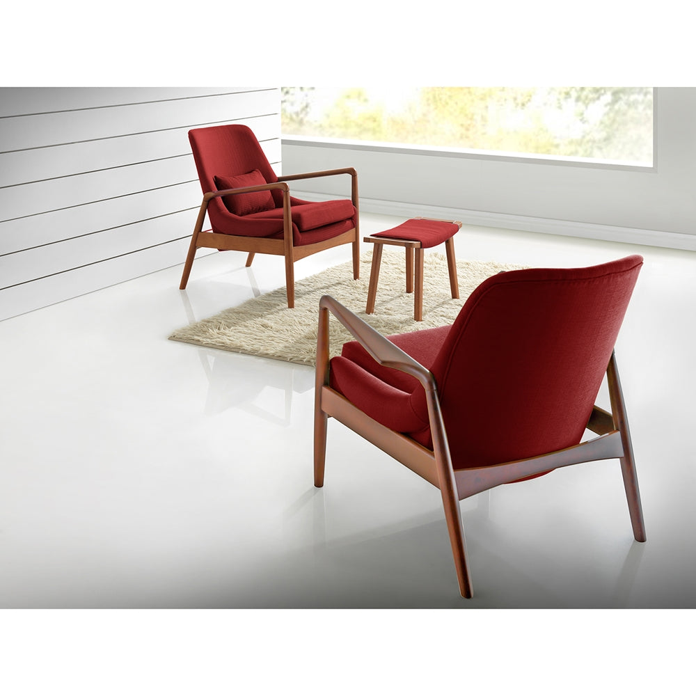 ... Baxton Studio Carter Mid Century Modern Retro Upholstered Accent Chair