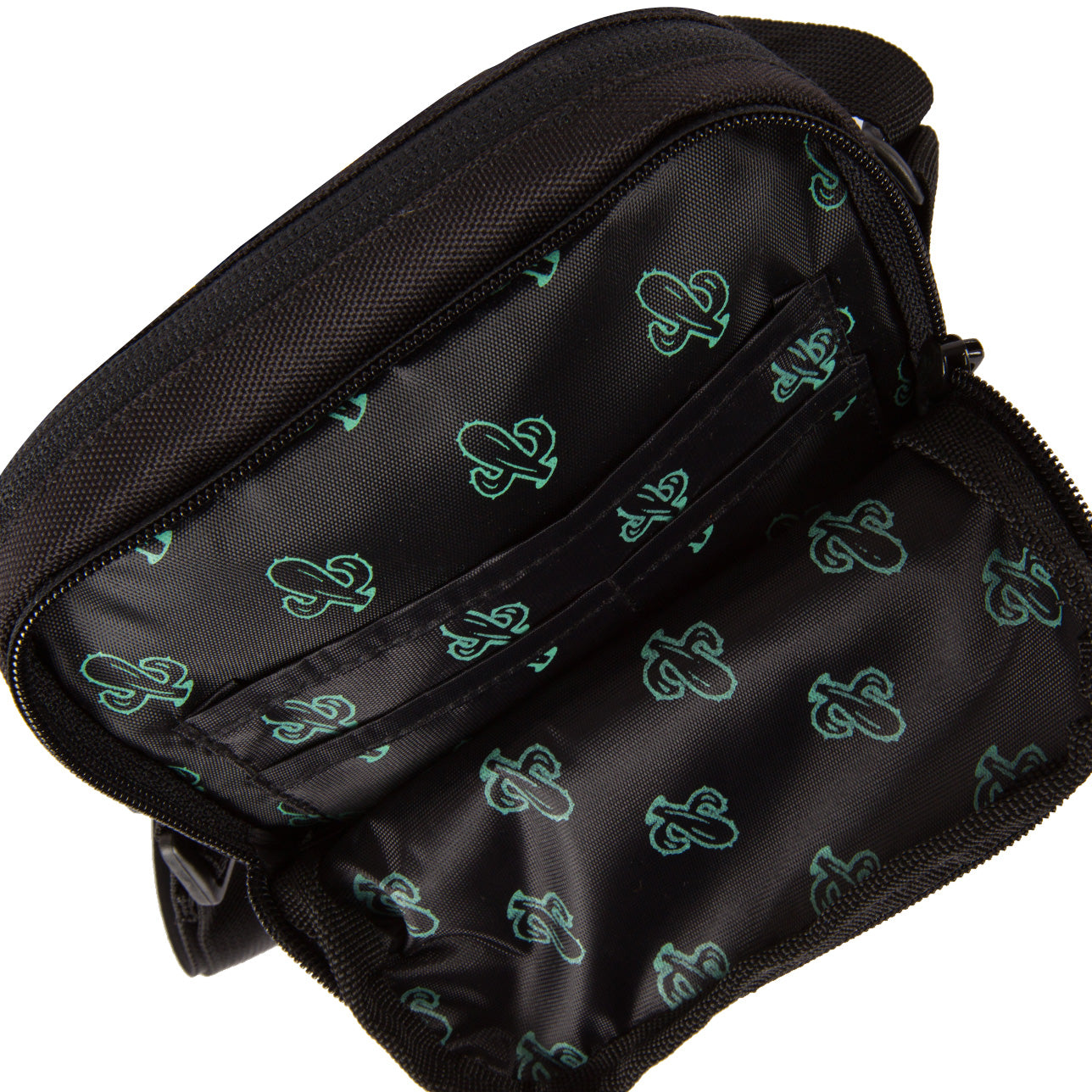 Vivid Cactus Side Bag Black Inside