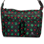 Messenger Bag Black Cactus Front