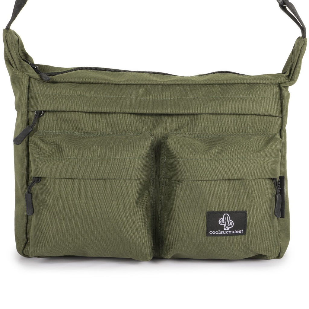 Messenger Bag Green Cactus Front