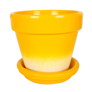 Gradient Pots 12cm Yellow