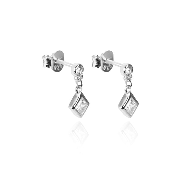 Mary Stud Drop Earrings