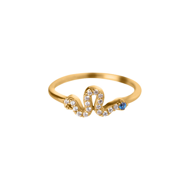 Crystal Snake Ring