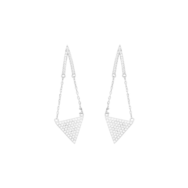 Hanging Pyramid Earrings