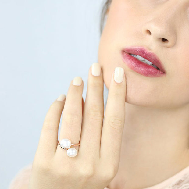 Mia Two Pearls Ring