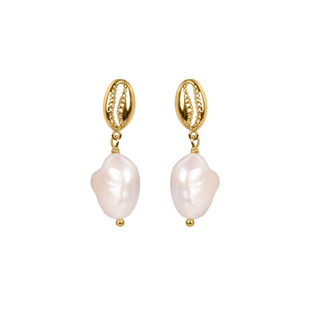 Staycation Shell Drop Earrings