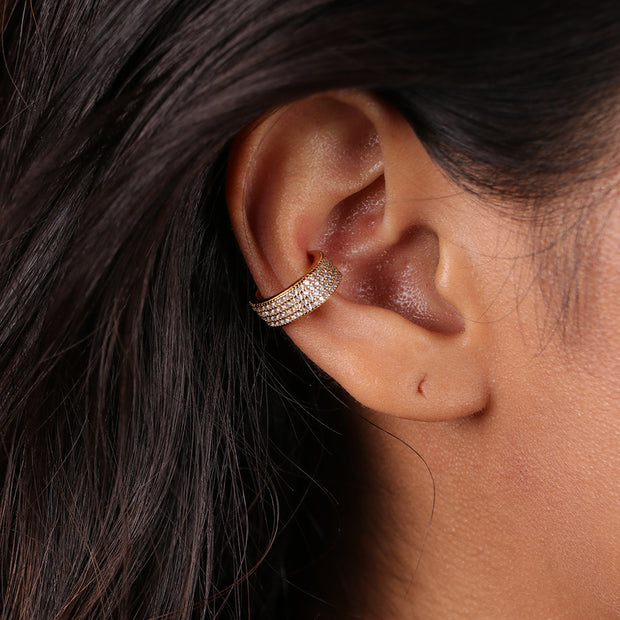 Mini Embellished Barrel Ear Cuff (1 piece)