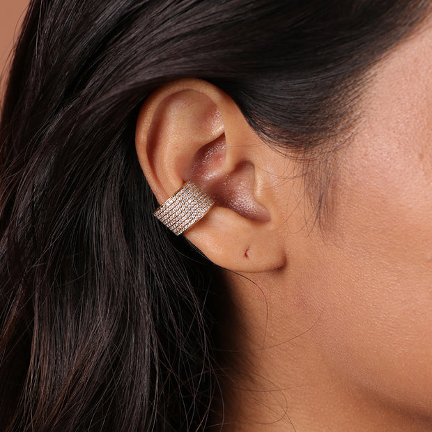 Embellished Barrel Ear Cuff (1 piece)