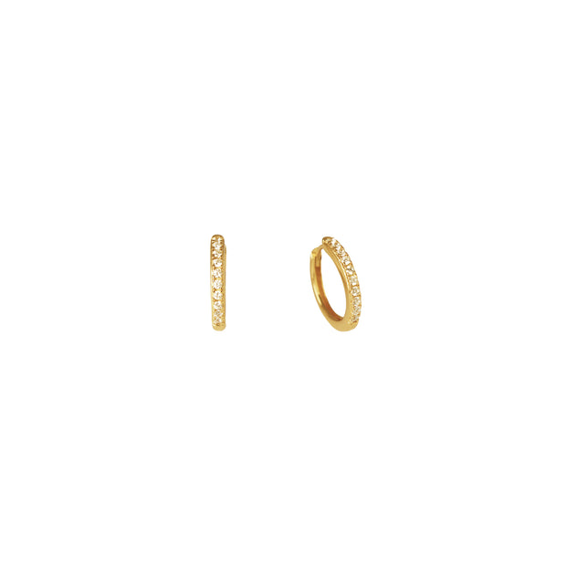Crystal Blanca Huggie Earrings