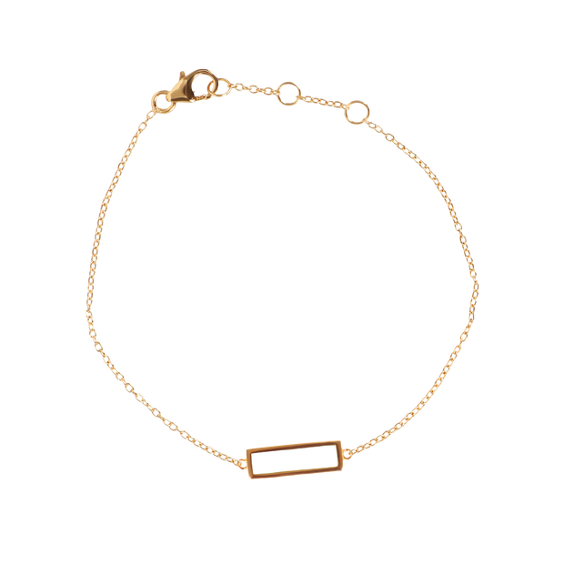 White Block Bar Bracelet