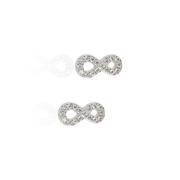 Crystal Infinity Stud Earrings