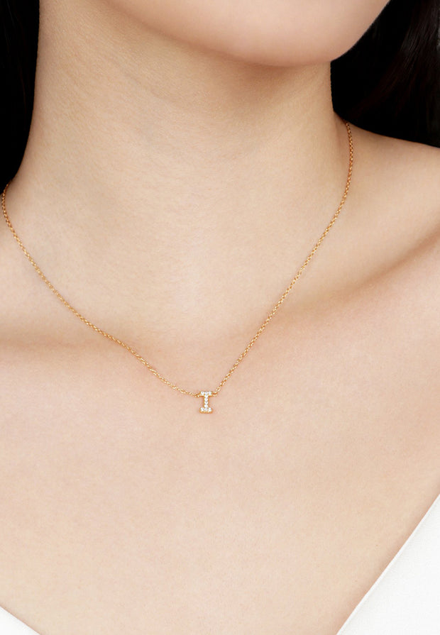 Initial Necklace CZ