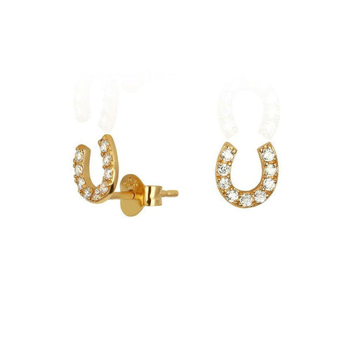 Crystal Horseshoe Earrings