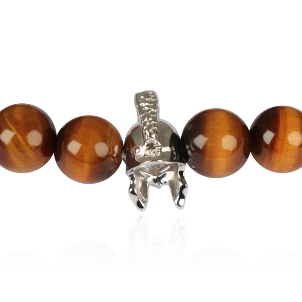 Gladiator Tiger Eye Bead Men's Bracelet