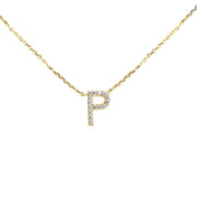 14K Gold Initial Necklace