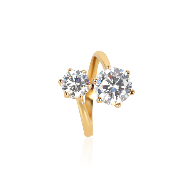 Adrienne Ring with Clear CZ