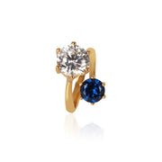 Adrienne Ring with Blue CZ