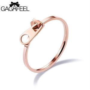 Zipper Design Rose Gold Color Stainless Steel Unique &Elegant - Aprilsclosets
