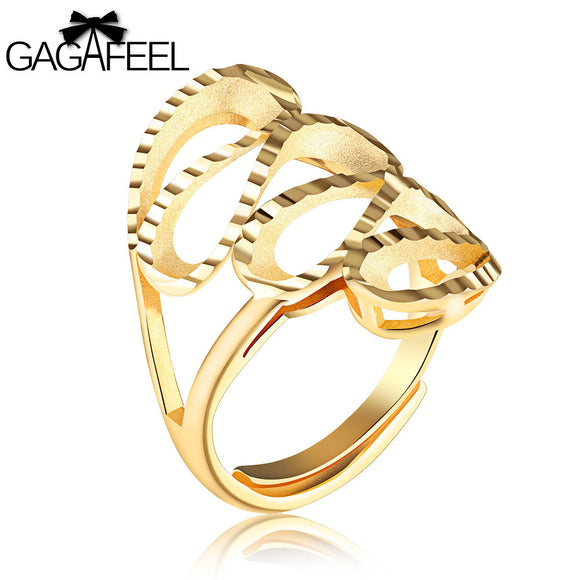 Women Adjustable Gold Color Ring - Aprilsclosets