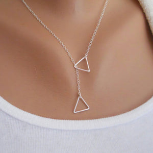 Women Triangular Cross Chian Jewelry - Aprilsclosets