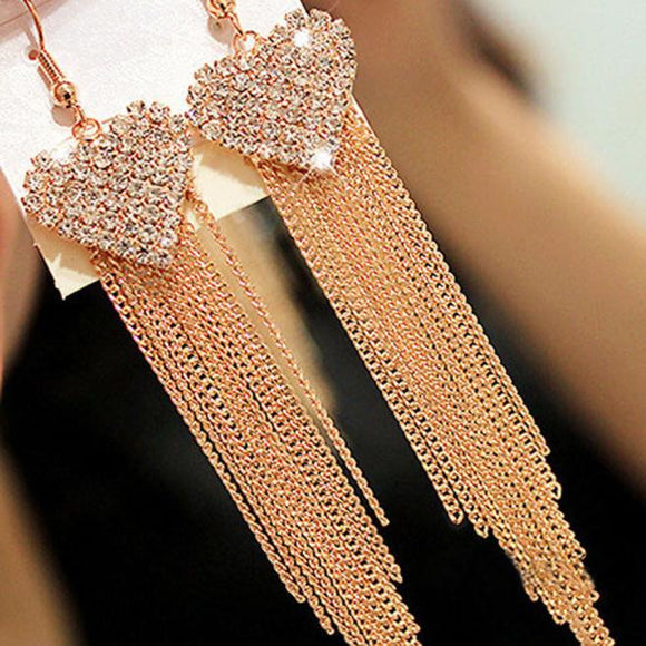 Fashion Women Lady Elegant Crystal Rhinestone Ear Stud Earrings  GD - Aprilsclosets