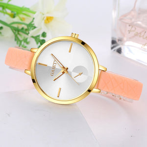 Women Fashion Leather Band Analog Quartz Round Wrist Watch Watches - Aprilsclosets