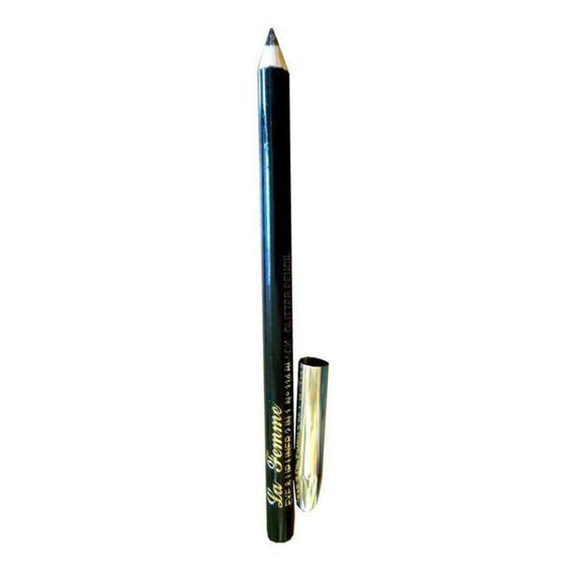 La Femme Glitter Eye & Lip Liner Pencil 2In1 - 114 Black-La Femme-Combo Set-NZOutlet