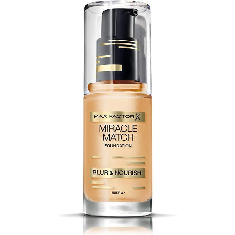 Max Factor Miracle Match Blur & Nourish Foundation - 47 Nude-Max Factor-FACE-Foundation-NZOutlet